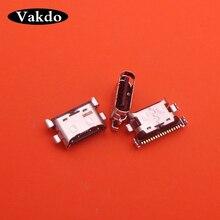 Porta de carregamento micro usb 50 pçs/lote, doca conector soquete para samsung galaxy a70 a60 a50 a40 a30 a20 a405 a305 a505 a705