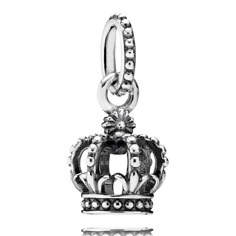 Authentic 925 Sterling Silver Bead Charm Vintage Noble Splendor Crown Pendant Beads Fit Pandora Bracelet Bangle JewelryAuthentic 925 Sterling Silver Bead Charm Vintage Noble Splendor Crown Pendant Beads Fit Pandora Bracelet Bangle Jewelry