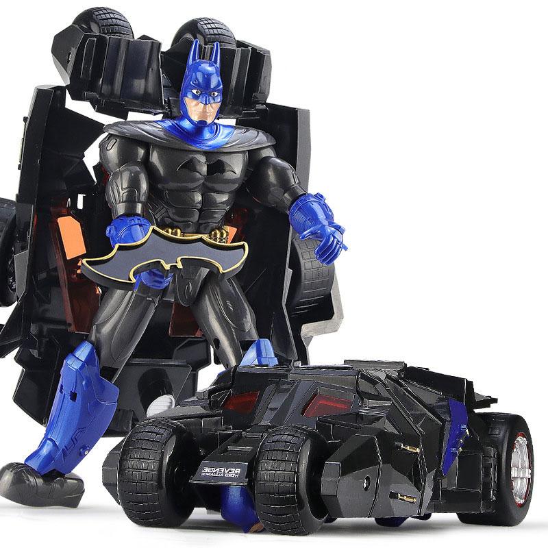Children Robot Toy Transformation Spiderman Batman Action Figure Toy Robot Car ABS Plastic Model Action Figure