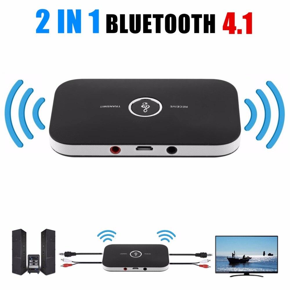 2 em 1 receptor de áudio estéreo sem fio música bluetooth transmissor receptor adaptador para telefones celulares portátil venda quente
