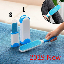 2019 New pet hair remover The Popular New Pet Hair Brush Hair Removal Comb Sofa Bed Portable Home Cleaning Brush lint remover pet hair deshedding dog cat brush comb sticky hair gloves hair fur cleaning for sofa bed clothe pets dogs cats cleaning tools