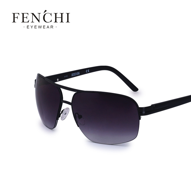2ff54f11dd9f fenchi high-end business classic sunglasses Men fashion brand UV400 goggles  business casual choice