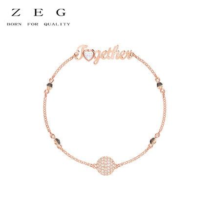 ZEG высокое качество 2018 последние SWARO оригинальный 1:1 SWA REMIX свой стиль невидимый магнит браслет имеет логотип Для женщин Jewelry Бесплатная Доста...