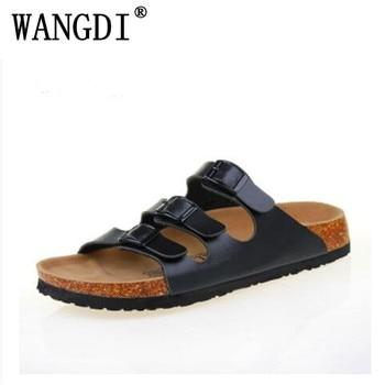 2017 nouvelle mode hommes chaussures liège pantoufles hommes pantoufles sandales d'été chaussures de plage amoureux appartements sandales diapositives grande taille 35-43