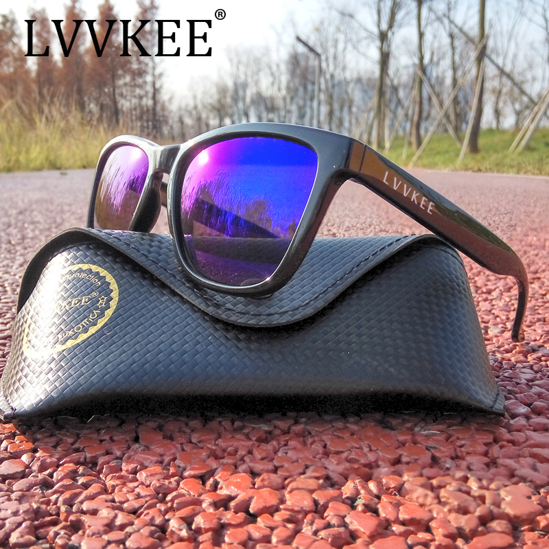 LVVKEE Brand 2017 Mens sunglasses Womens Black big frame design Sun glasses UV400 Eyewear oculos Outdoors sports Original Box