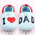 2016 Lovely Toddler Baby Girls Boys Round Toe Flats Soft Slippers Shoes I Love MOM/DAD