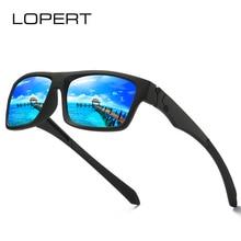 LOPERT Classic BRAND DESIGN Polarized Sunglasses Men Women Driving Square Frame Sun Glasses Male Goggle UV400 De Sol