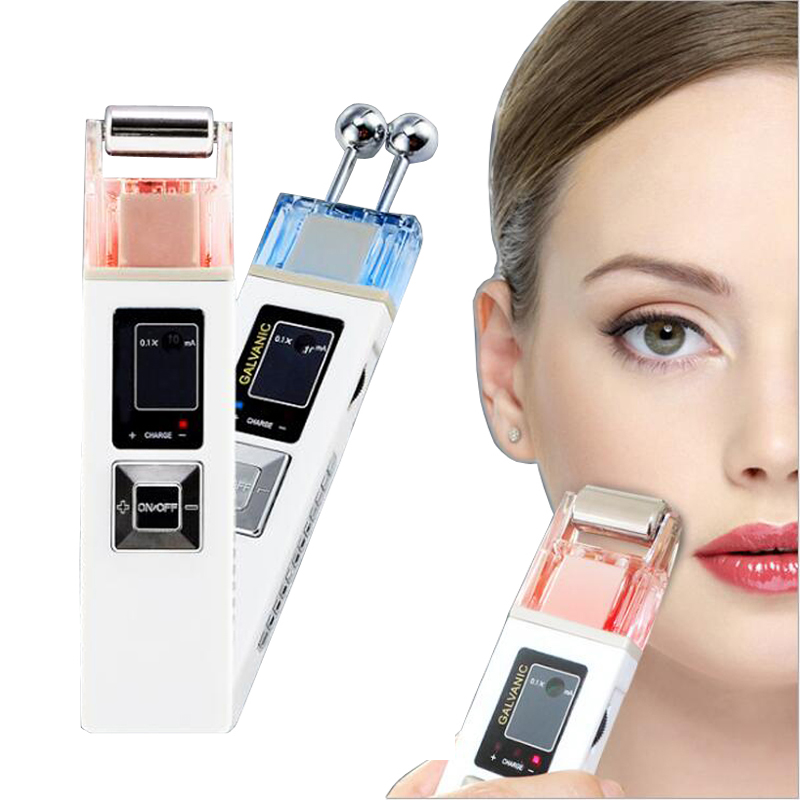 Ionic Galvanic Facial Massager Microcurrent Face Cleaning Iontophoresis Machine Skin Firming Skin Care Spa Beauty Equipment fashion electric face massager facial body lifting firming v shape beauty skin care machine spa tool 100 240v cm 1