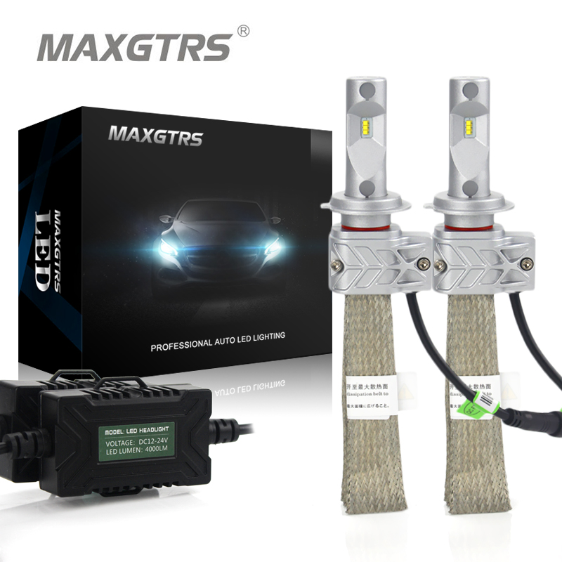 2x H1 H3 H7 H8 H9 H11 H16 9005 HB3 9006 HB4 9012 Car LED Headlight Conversion Kit 8000lm Lumileds Chip Fog Light Bulb Headlamp 2x h8 h11 9005 9006 h16 cree chip led white red yellow car fog headlight replacement bulb drl auto driving daytime running light