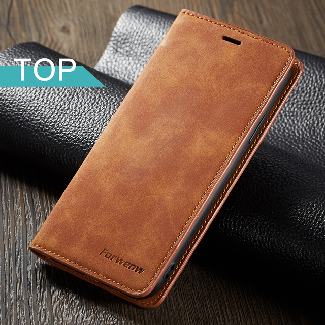 Magnet Leather Wallet Case For iPhone 6 S 7 8 Plus iphone XS Max XR card slot flip cover iphone X case For iPhone 6s 7plus 8plus