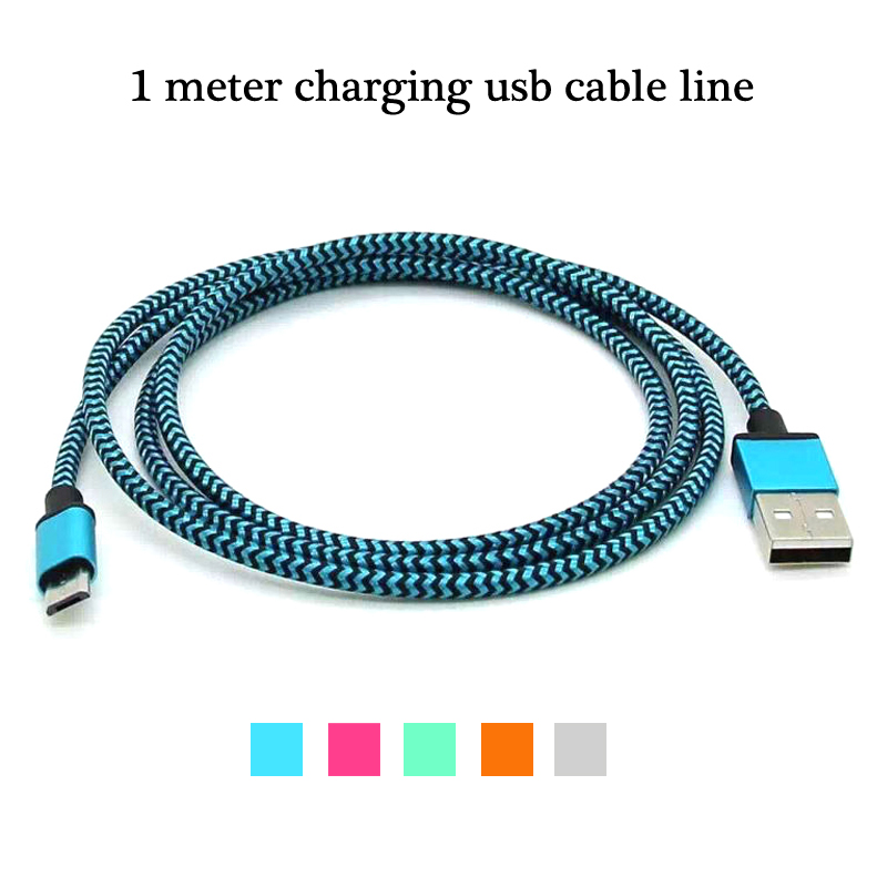 Luxury Metal Braided Mobile Phone Cables Charging USB Cable Charger Cord For Samsung For Huawei Android Phones Data accessories