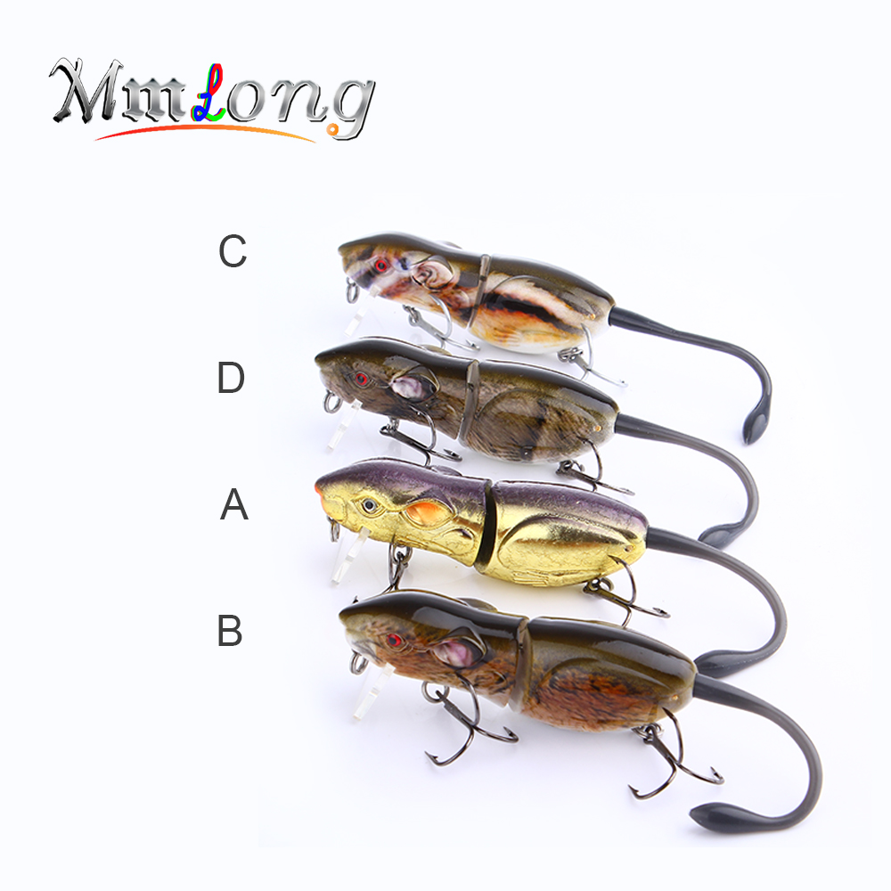Mmlong 3.5 New Rat Fishing Lure Top Artificial Crankbait Swimbait 22.1g Hard Fishing Mouse Bait Tackle Wobbler Lures Rat2-M 24 colors for choose fishing lure minnow crankbait pencil lures wobbler pesca artificial swivels hard bait swimbait tackle