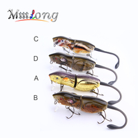 Mmlong 2016 3 5 New High Quality VMC Hook Fishing Lure Artificial Crankbait Slow Sinking Hard
