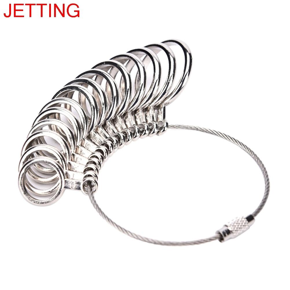 JETTING US Size 0 13 14Pcs Standard Ring Sizer Finger Gauge Ring ...