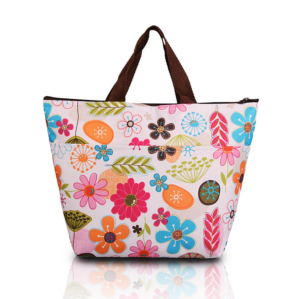 Simple Style Lunch Bags Insulation Picnic Portable Package Waterproof Food Lunch Box Oxf ...