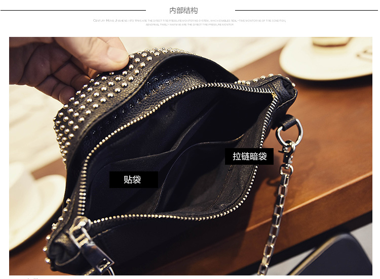 2019 women bags Designer clutch fashion rivet motorcycle shoulder bag new summer fashion handbag chain Crossbody Jacket Bag 827 in Shoulder Bags from Luggage Bags