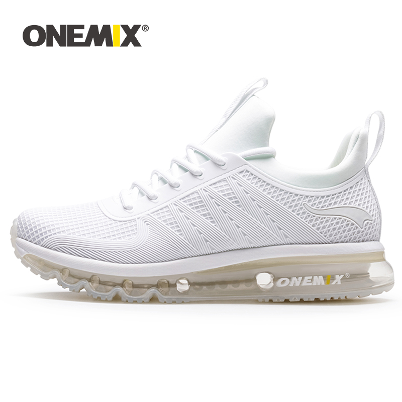 ONEMIX Men Sneakers High Top Running Shoes 2019 Comfortable Lace-up Lightweight Air Cushion Sport Basket Shoes Outdoor Athletic