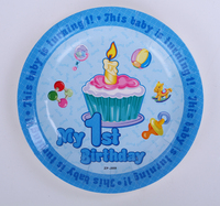50pcs Lot Dessert Plate Birthday Party Table Supplies Decorations 1 Year Old Baby Birthday Disposable Decorative