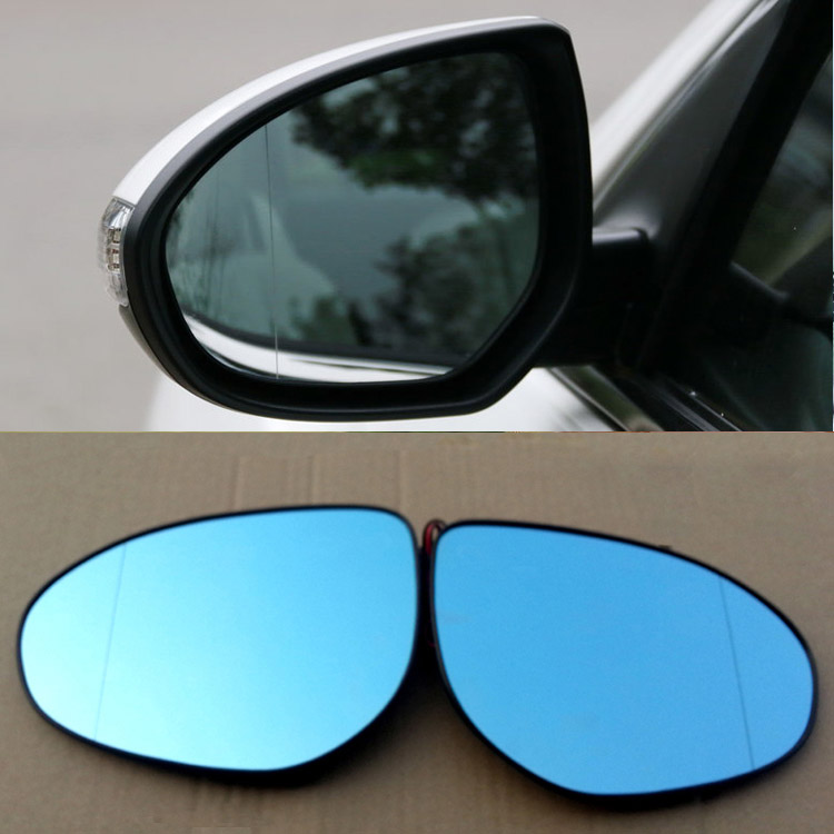 Savanini 2pcs New Power Heated w/Turn Signal Side View Mirror Blue Glasses For Mazda Zoom