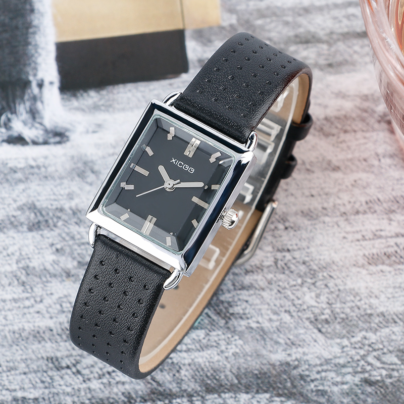 XICOO Fashion Ladies Girl Watch Genuine Leather Band Women's Bracelet Watches Small Dial Quartz Dress Wristwatch 2018 New Clock pink blue green color small dial women s bracelet watches elegant thin leather band quartz lady wrist watch fashion girl gifts
