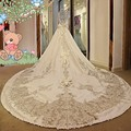 Luxury High Neck Long Sleeves Beaded Crystal Bows Ball Gown Wedding Dress 2017 Bridal Gown Vestido de Noiva Cathedral Train