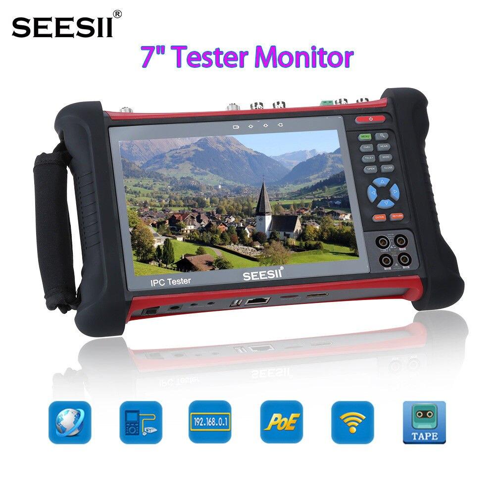 SEESII X7MOVTADHSPLUS 7 4 K Testeur Moniteur CIB TVI CVI CCTV Caméra de Sécurité Test Contrôle PTZ IP Découverte Écran Tactile Wifi 8 GB