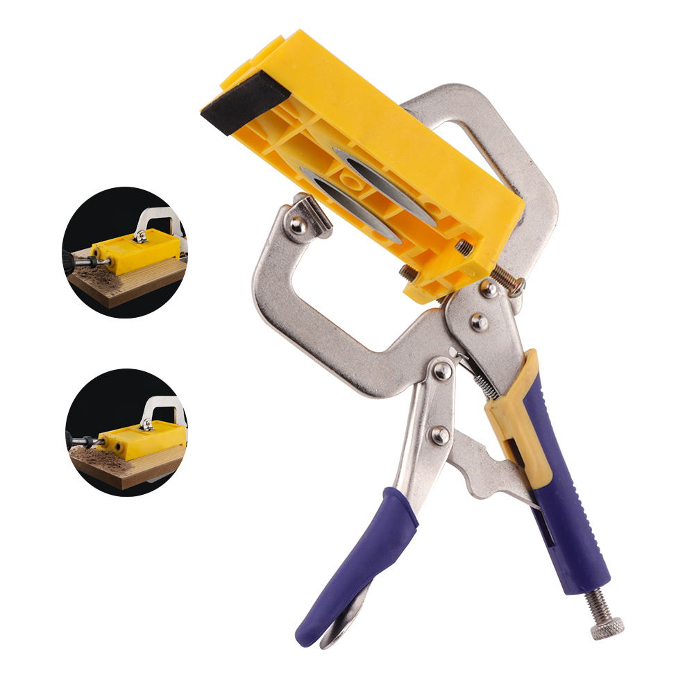 BORUiT New Style Pocket Hole Jig Kit Set System for Wood Working Step Drill Bit  Dowelling Hole Saw Master System new 50mm wall hole saw drill bit set 200mm connecting rod with wrench mayitr for concrete cement stone