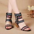 Women high heels sandal shoes platform Embroidered Shoes open toe sy-995