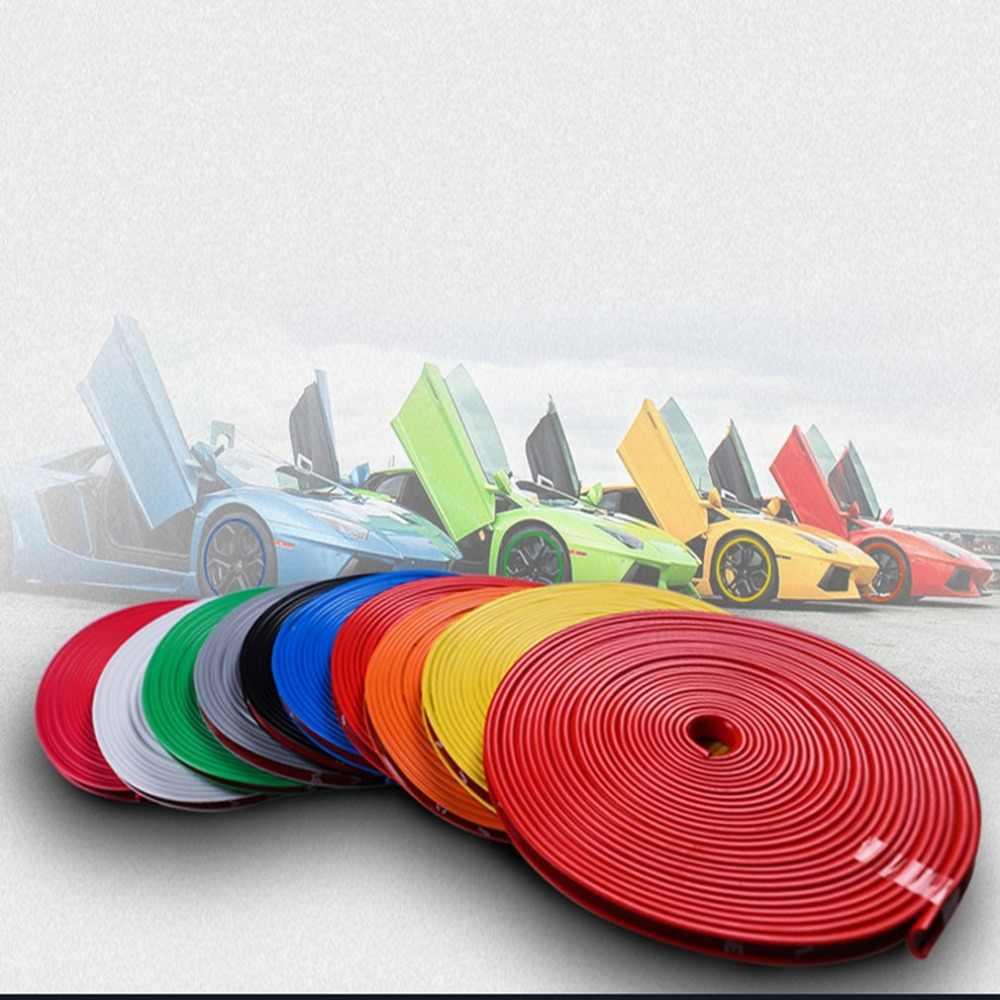 NEUE 8M/Rolle Rimblades Auto Fahrzeug Farbe Rad Felgen Protektoren Decor Streifen Reifen Schutz Linie Rubber Moulding Trim