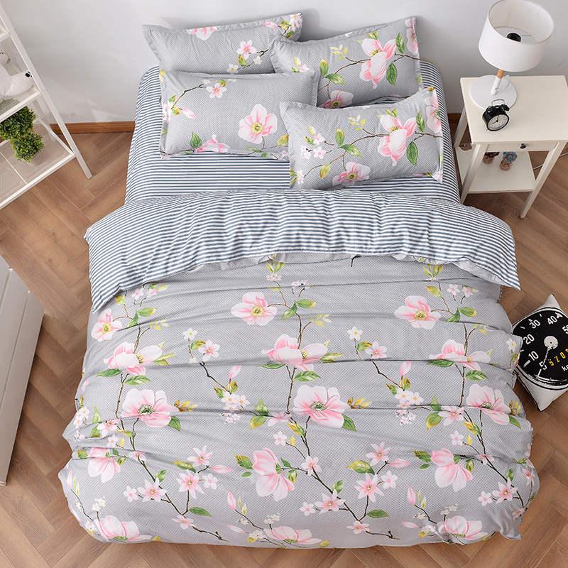 Aliexpress.com : Buy striped pink flower print bedding
