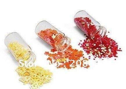 Nail Polish Nail Art  Decoration Supplies Gorgeous Nail Laser Sequins Flash Chip Glitter 120pcs/lot Freeshipping