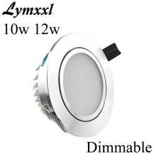 Серебристый светодиодный светильник с регулируемой яркостью 10 Вт 12 Вт COB Светодиодный точечный светильник 110-240 В или 12 В или 24 В светодиодный светильник+ Драйвер