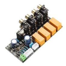 AC 9-15V Audio Input signal Selector Relay Board Signal switching amplifier board DIY New