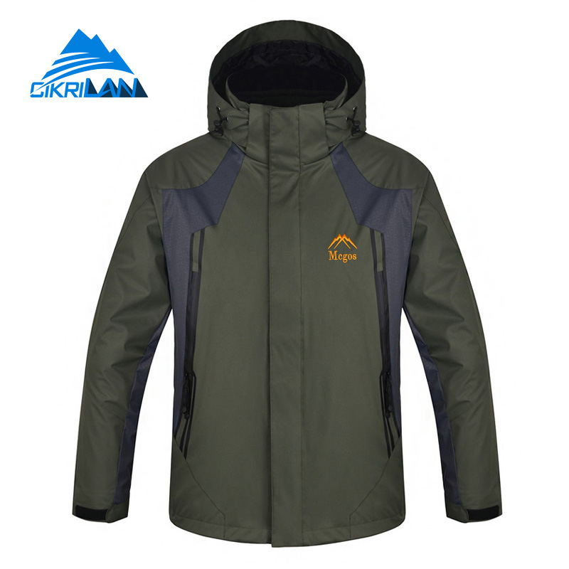 цена на Hot Sale Hot Sale Windproof Water Resistant 3 In 1 Winter Jacket Men Hiking Climbing Veste Homme Camping Warm Chaqueta Hombre