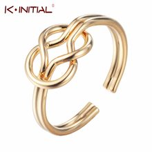 Kinitial Infinity Eternity Cross Knot Rings Charms Best Friend Gift Endless Love Symbol Fashion Jewelry For Women Party Bijoux(China)