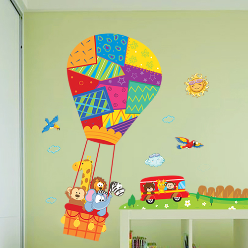 The kindergarten wall decoration balloon sticker bedroom male girl ...