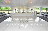 White Wedding Party Decoration Floor Stickers Custom Name Floor Decals High Quality Vinyl Removable Stickers Wedding