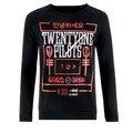 21 Veintiún Pilotos Mens Hop Camiseta Larga llena manga de la Camiseta Con camisas de las Camisetas de Impresión de La Moda de Los Hombres Desgaste de La Calle Tops negro
