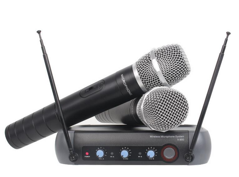 ФОТО V900 high-end wireless microphone one with Two Remix features KTV wireless microphone family professional microphone