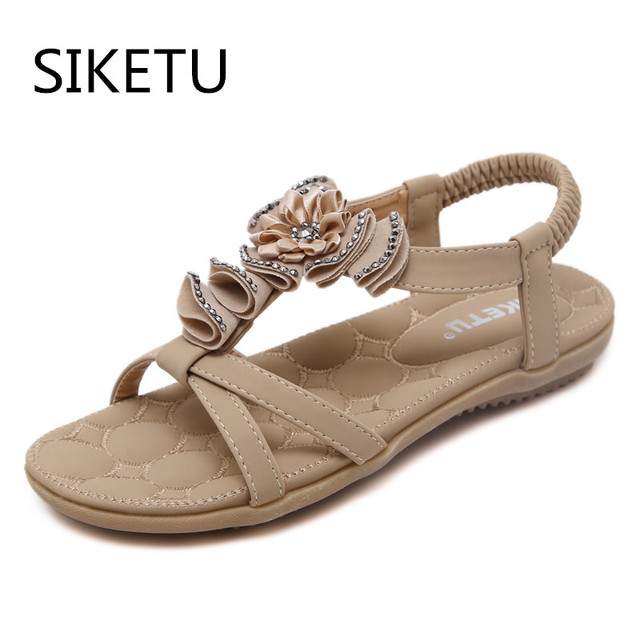 SIKETU Plus Size 41 Woman Sandalos scarpe Ladies Summer Soft Elastic scarpe Sandalos bad8b2