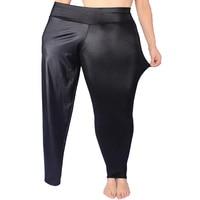 Women S Plus Thick Velvet Black High Waist Leather Pants Big Yards Fat Stretch XXXL Nine