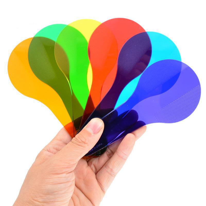 6pcs BOHS Six Color Paddles Tablets Children Learn Early Color Toys 6 Pieces Kindergarten Montessori Teaching Aids