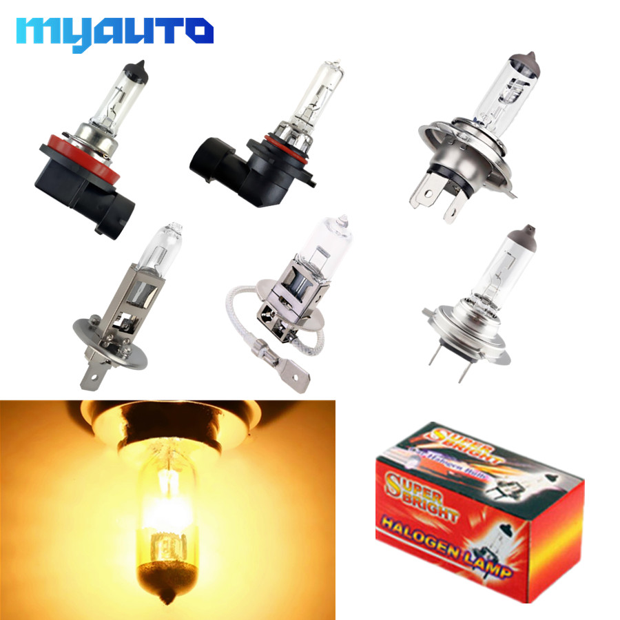 H1 H3 H4 H7 H8 H11 Hb3 9005 HB4 9006 55W 100W 12V Halogen Bulbs Car Headlight Lamp Super Bright Halogen 4300K Yellow Auto
