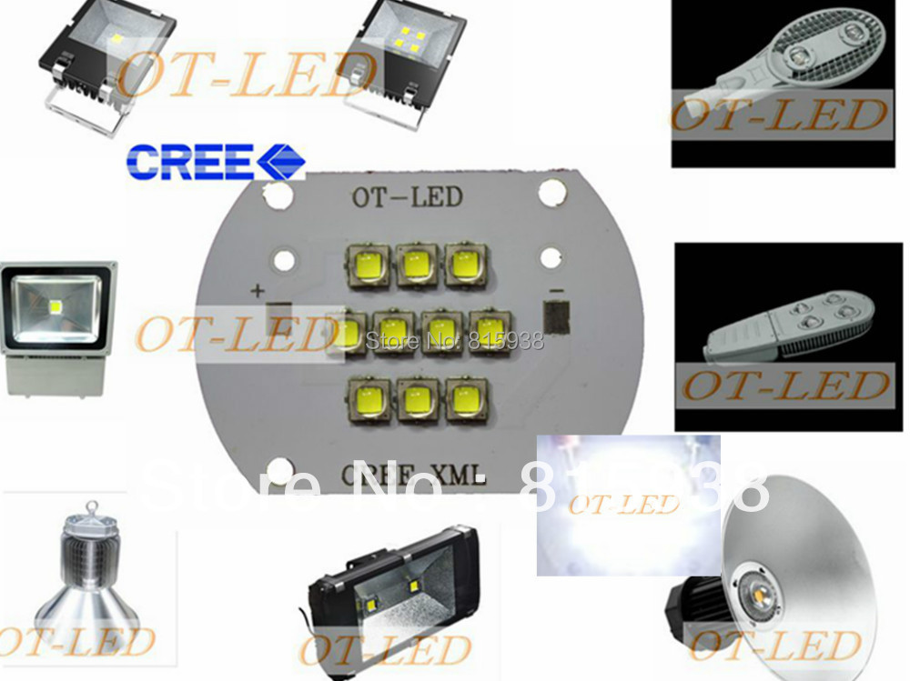 High Quality!CREE  XML2 LED 100W LED XM-L2 White 6500K LED Emitter Light  DC28-36V 3000mA 100W 12000LM with Cooper PCB sitemap 28 xml