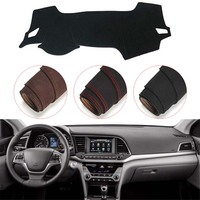 Console Dashboard Suede Mat Protector Sunshield Cover Fit For Hyundai Elantra Avante 2016 2018