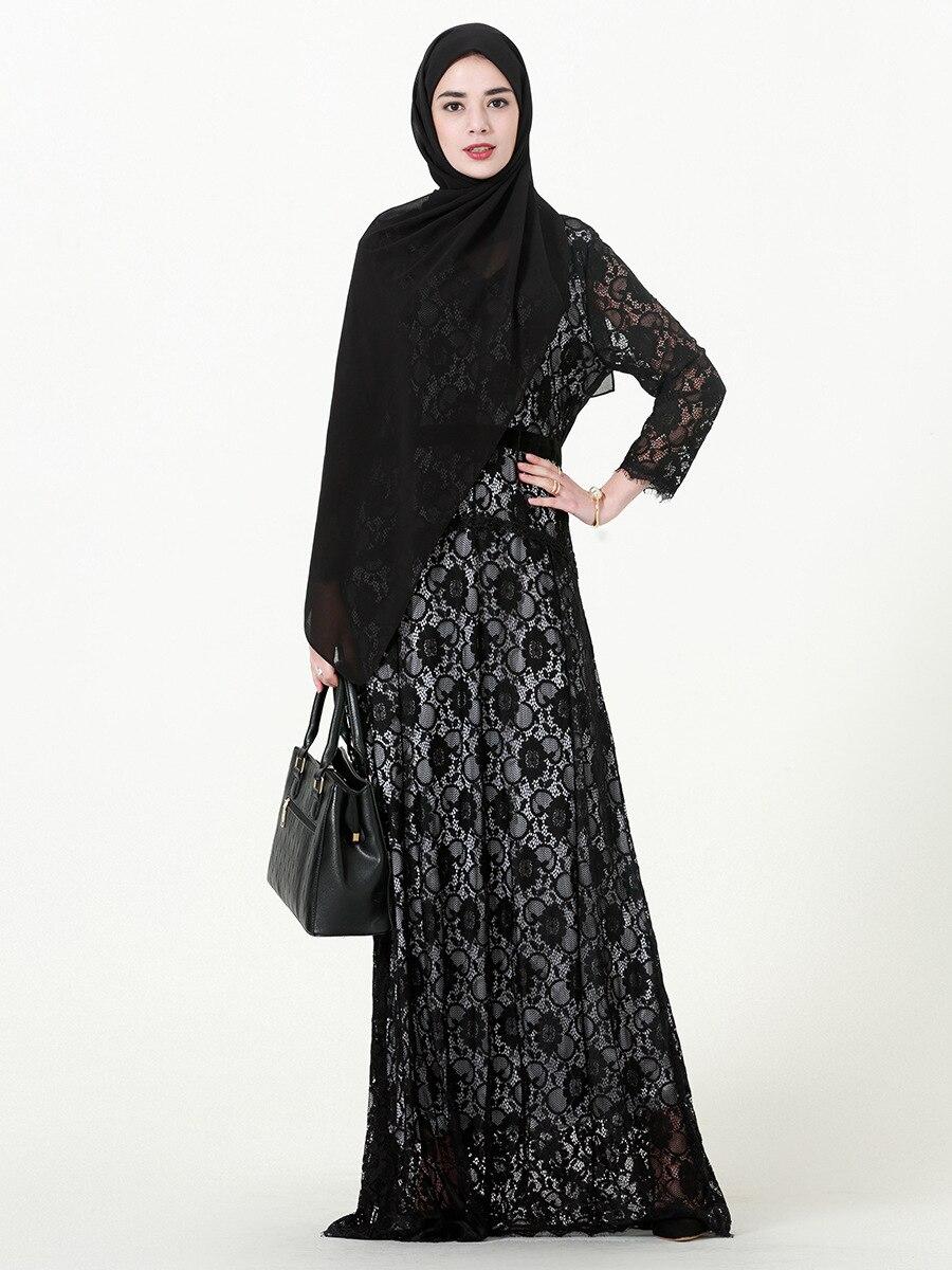 L-7XL grande taille mode musulman adulte abaya robes Dubai Vestidos musulman longue robe turque islamique abaya islamique vêtements