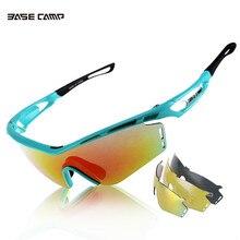 F Basecamp Men's 3 Lens Cycling Glasses Outdoor Sports Oculos Gafas Ciclismo MTB Bike Eyewear UV400 Proof Lunettes De Cyclisme