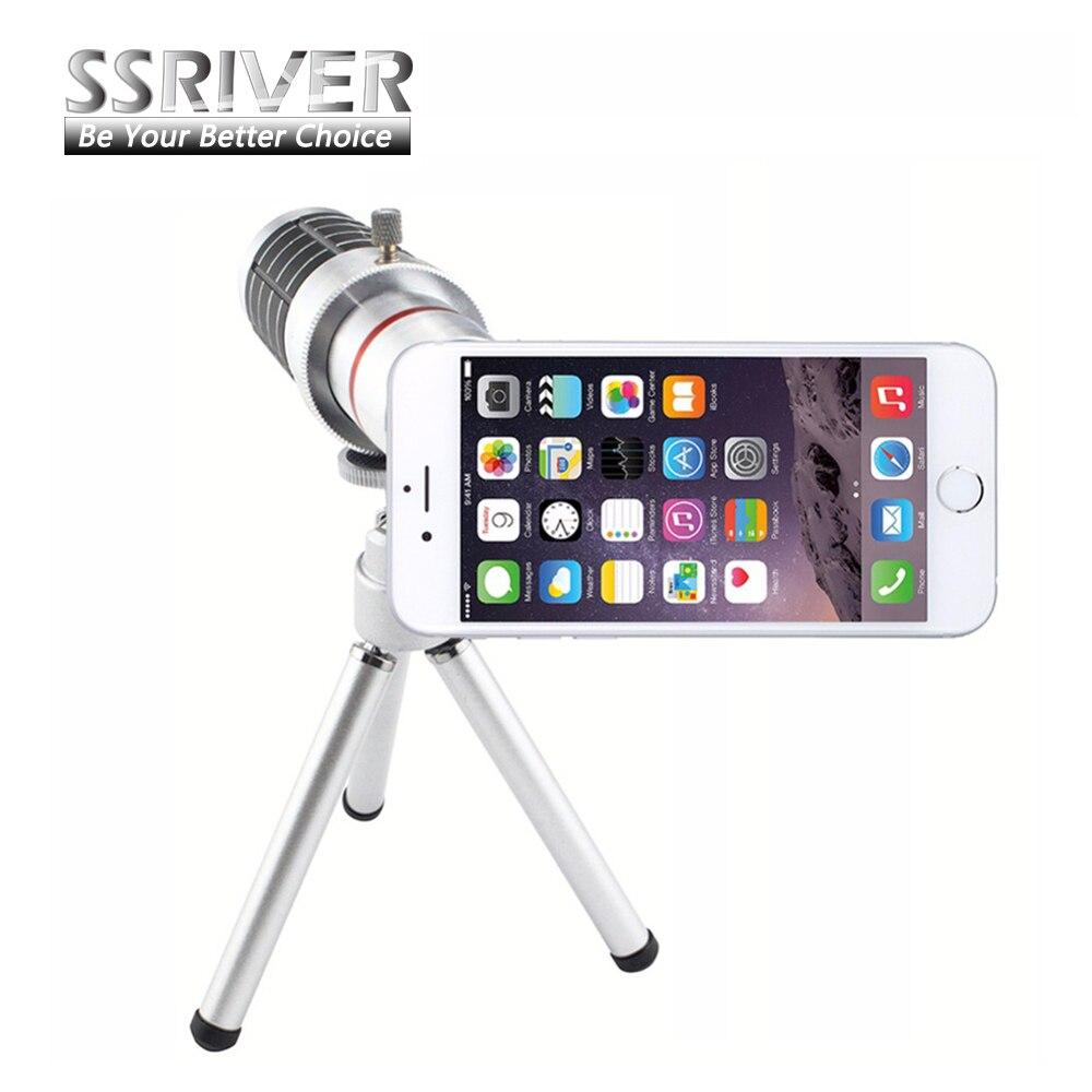 Ssriver 12X Оптический зум телескоп Объективы для фотоаппаратов + штатив + обложка чехол телефон 12X зум-объектив для <font><b>iPhone</b></font> 6 4.7&#8243;