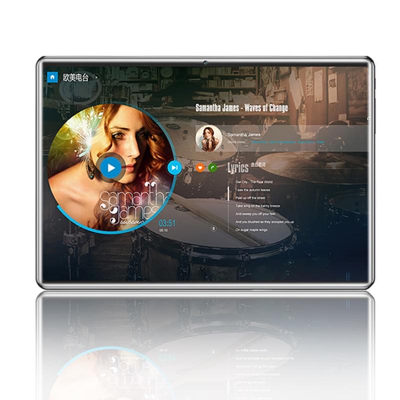 Livraison gratuite Original 10.1 pouces tablette pc Android 8.0 Octa Core RAM 6GB ROM 64GB 1280 * 800 Écran incurvé double carte SIM 4G LTE appel téléphonique WIFI GPS 10 pouces Smart Tablets + cadeau