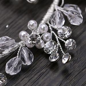 Image 3 - GETNOIVAS Luxury Tiara Shiny Crystal Pearl Beads Hair Comb Crown Bride Hairband Headband Bridal Wedding Hair Accessory SL